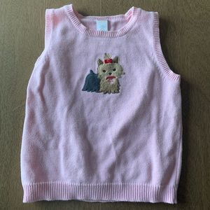 🏇🏼 2/$20 Pink Gymboree Yorkie Sweater Vest 10-12